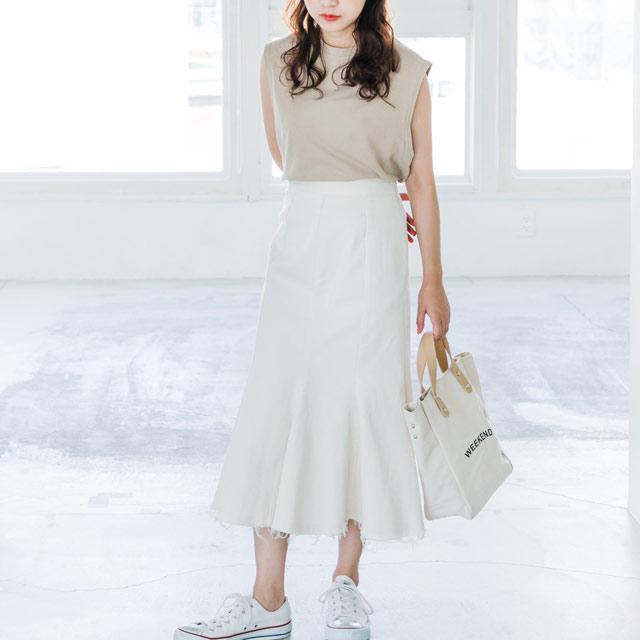 ≪WINTER SALE≫裾フリンジスカート(全2色)[483M]