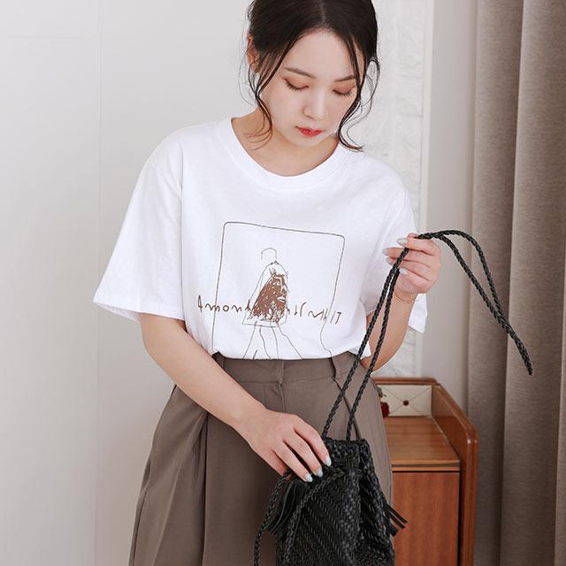 【8/11(tue)19:00〜】illustration point t-shirt[4858C]