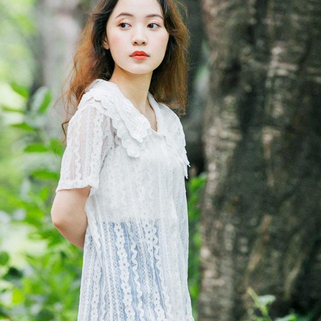 total lace blouse[485C]