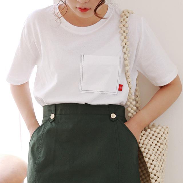 ≪トップス全品送料無料≫pocket point t-shirt[4863C]