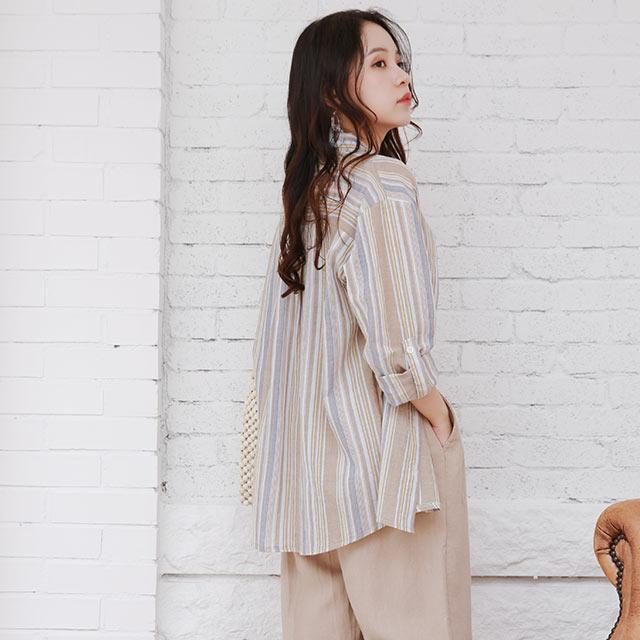 stripe summer shirt[4864C]