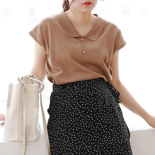 ≪トップス全品送料無料≫summer knit shirt[4874C]