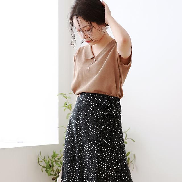 summer knit shirt[4874C]