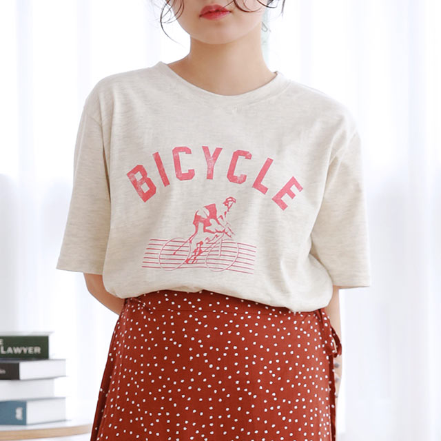 bicycle logo t-shirt[4912C]