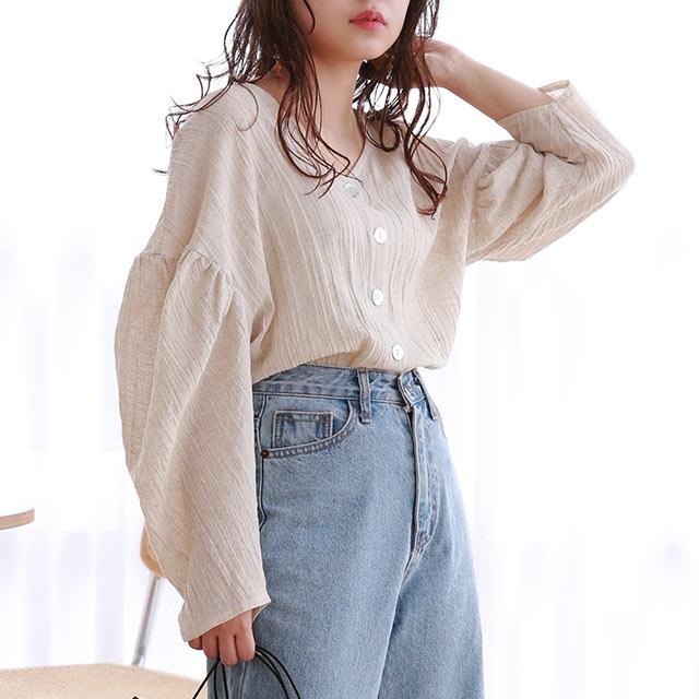 ≪トップス全品送料無料≫drop sleeve blouse[4914C]