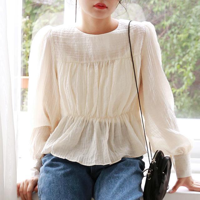 peplum design blouse[4950C]