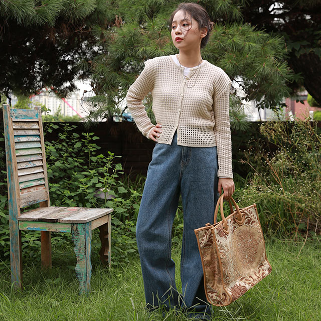 ami ami knit cardigan[4957C]
