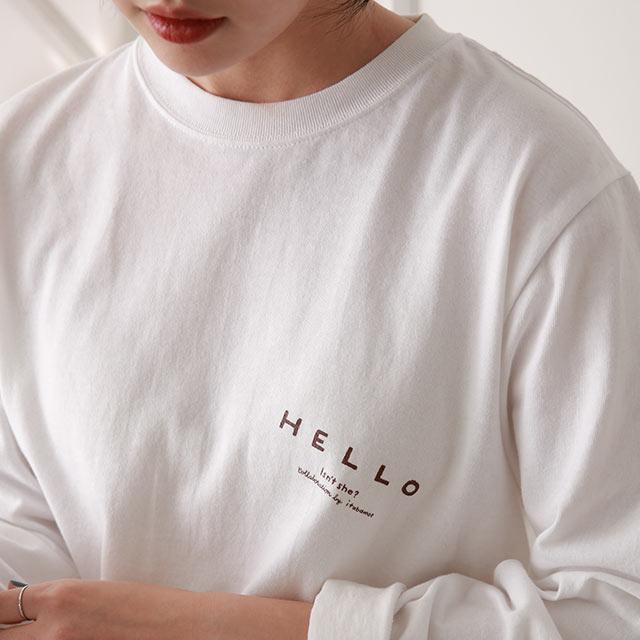 hello new day t-シャツ[4979C]