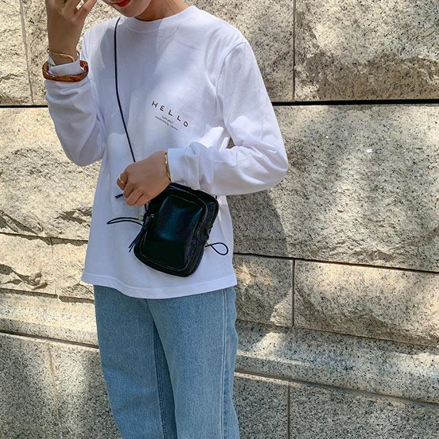 【堀田真由さんインスタライブ着用アイテム】【itabamoe × Isn't She】hello new day t-shirt[4979C]