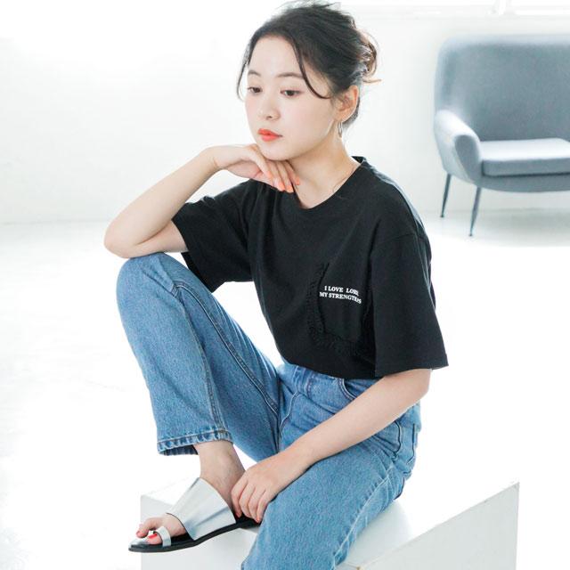 ポケットフリルTシャツ(全2色)[497C]