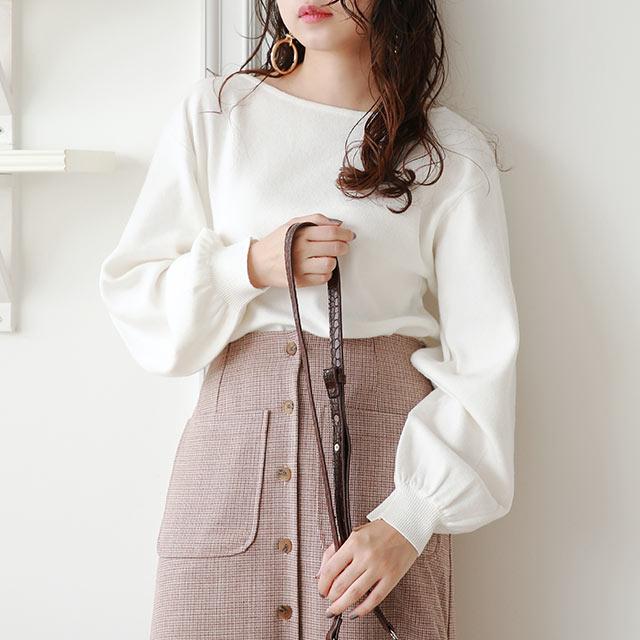 volume sleeve knit[4989C]≪送料無料≫