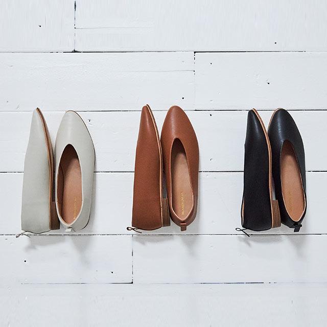 【2/26(wed)19:00〜】vcut flat shoes[498I]