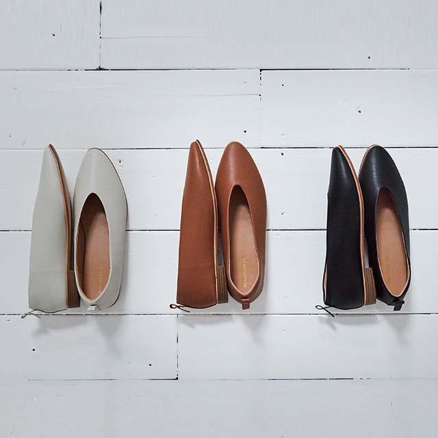 vcut flat shoes[498I]