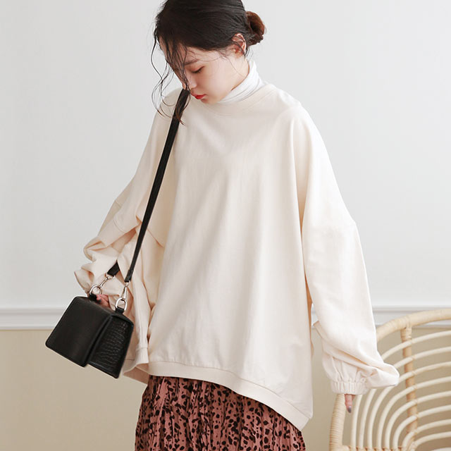 <FLYING SALE>over silhouette pullover[4993C]