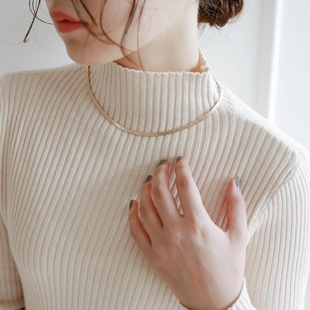 【11/29(sun)19:00〜】rib high neck knit[5020C]