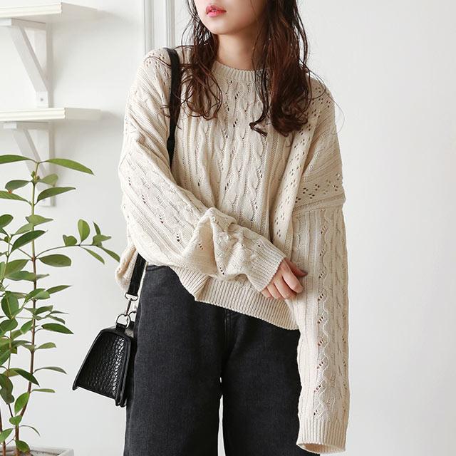 cable short knit[5022C]
