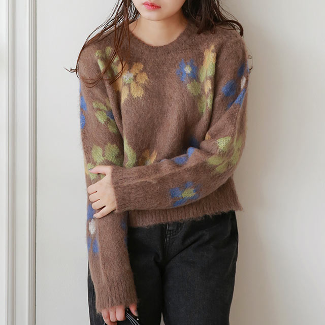 【10/20(tue)19:00〜】flower point knit[5035C]