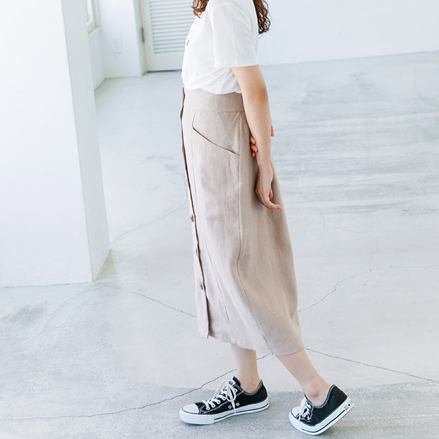 ≪FINAL SALE≫フロントボタンスカート(全2色)[503M]