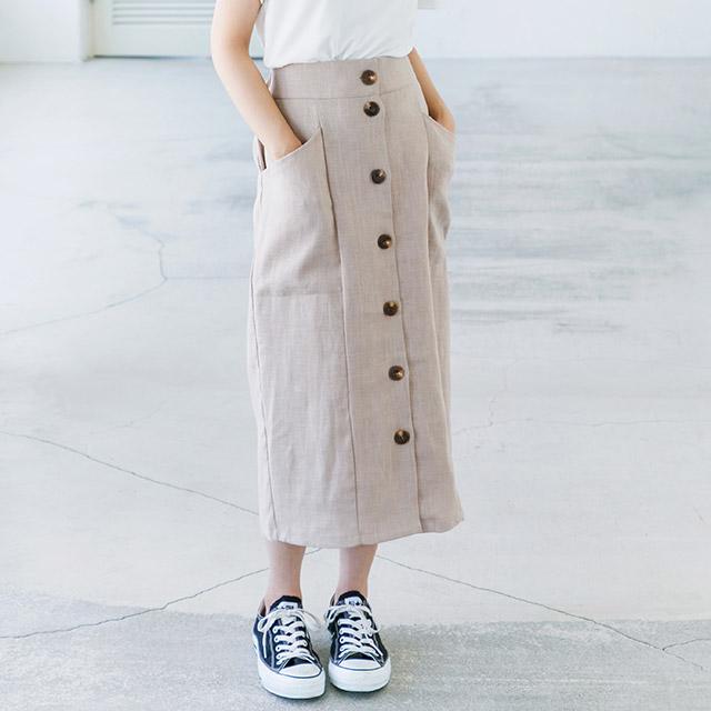 フロントボタンスカート(全2色)[503M]