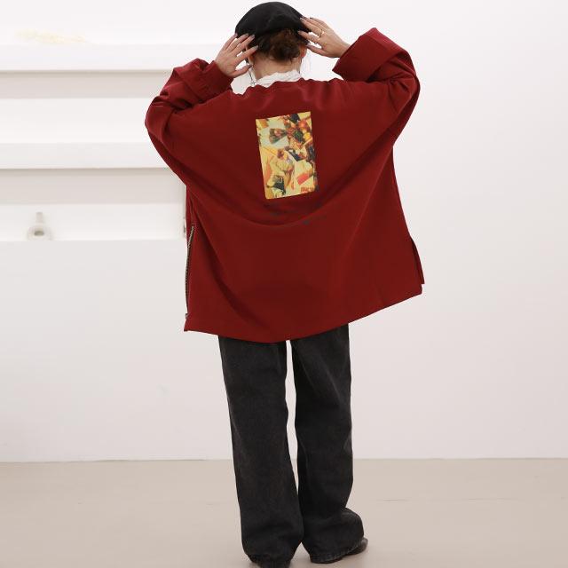 【10/22(thu)21:00〜】【Mayu Hotta × Isn't She?】side zip over sweat[5040C]【11月下旬予約】