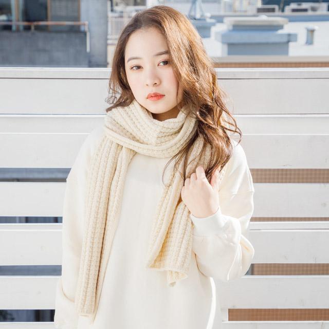 ≪村田倫子Select≫ワッフルニットマフラー(全2色)[505J]