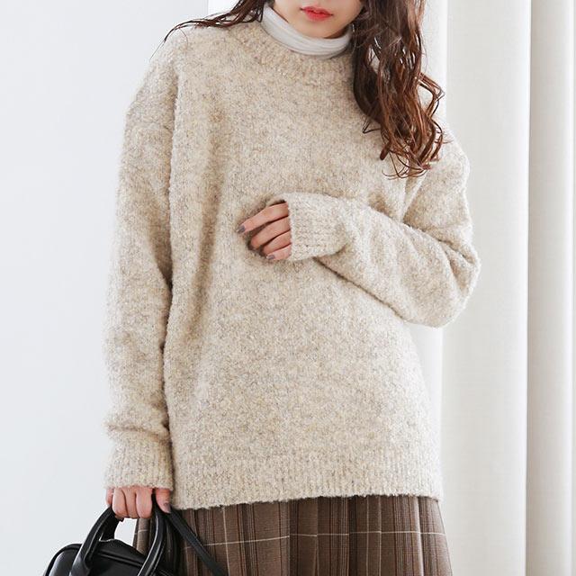 mix color long knit[5073C]