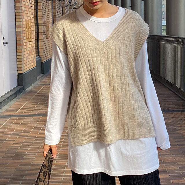 【12/6(sun)19:00〜】AW knit vest[5074C]