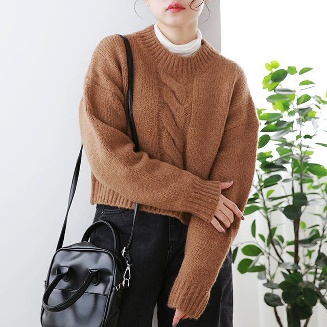 big cable knit[5115C]