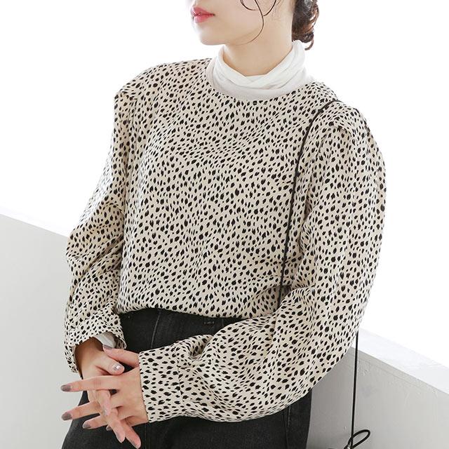 AW leopard blouse[5119C]