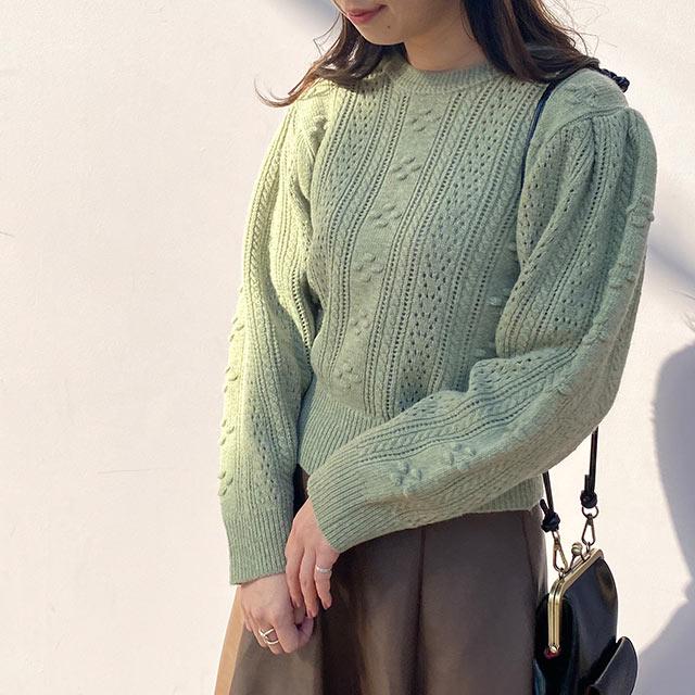 【12/6(sun)19:00〜】pocopoco point knit[5121C]