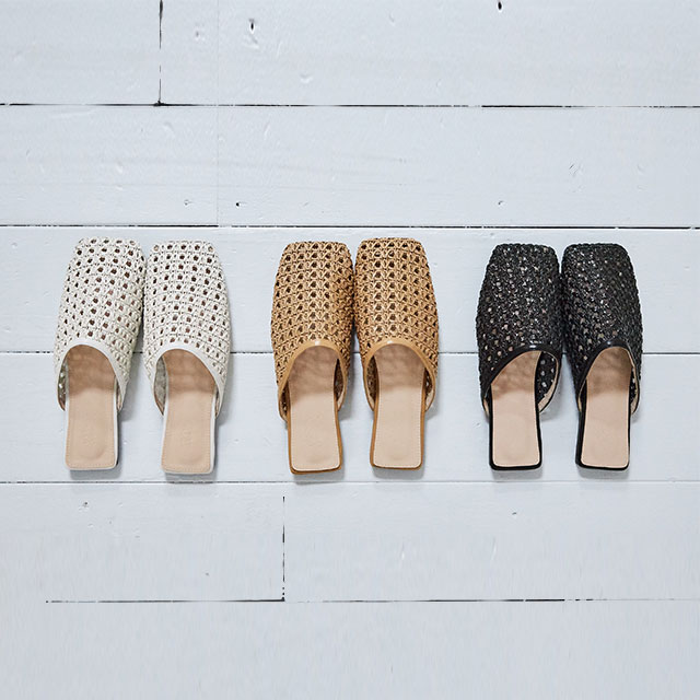 <Summer Sale!!>square rattan shoes[517I]
