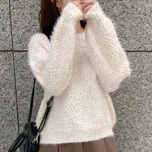 【12/1(tue)19:00〜】kirakira nuance color knit[5181C]