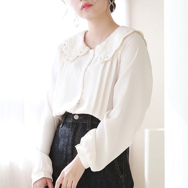 big lace collar blouse[5182C]
