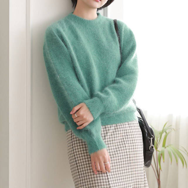 shaggy colorful knit[5194C]