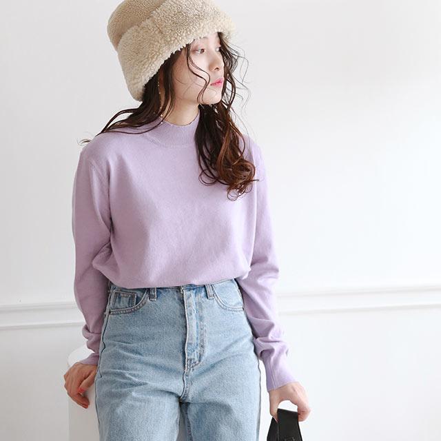 basic bottle neck knit[5238C]