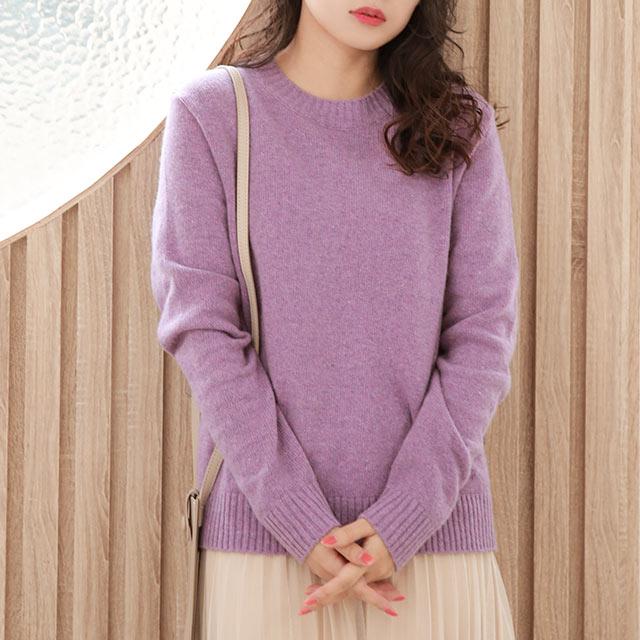pastel color crew neck knit[5240C]