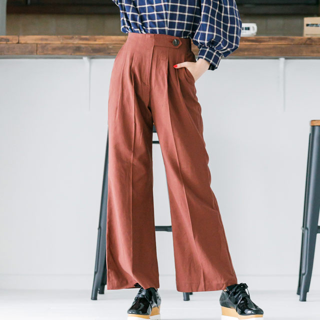 <bottom fair!!6/8(mon)am11:59まで>side button wide pants[524M]