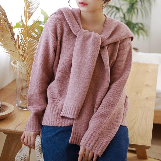 arrange shawl knit set[5299C]