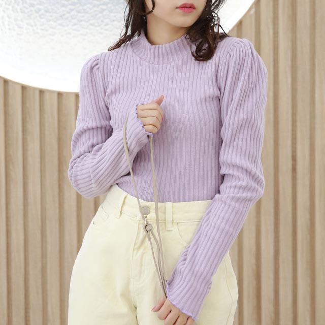 puff sleeve rib knit[5301C]