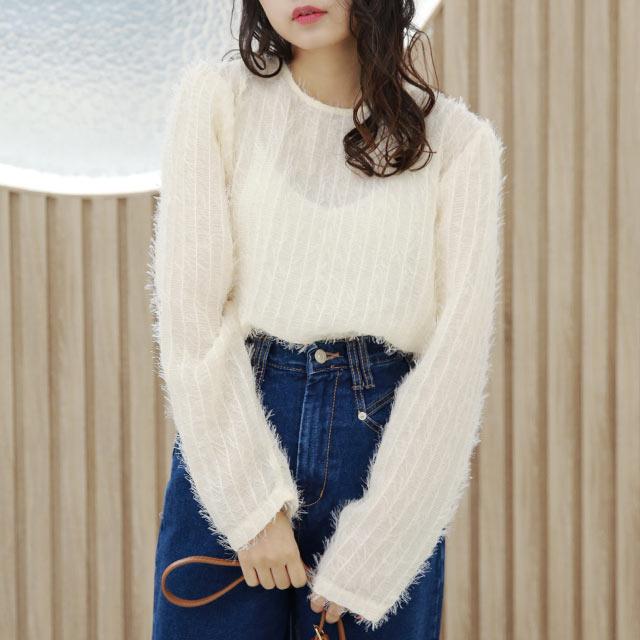 fringe nuance blouse[5320C]