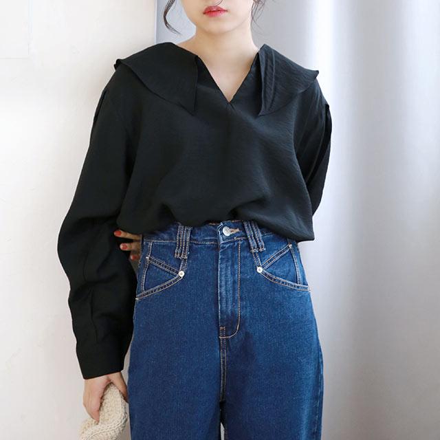 flare collar blouse[5321C]