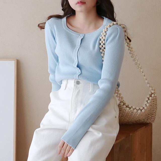square neck cardigan[5360C]