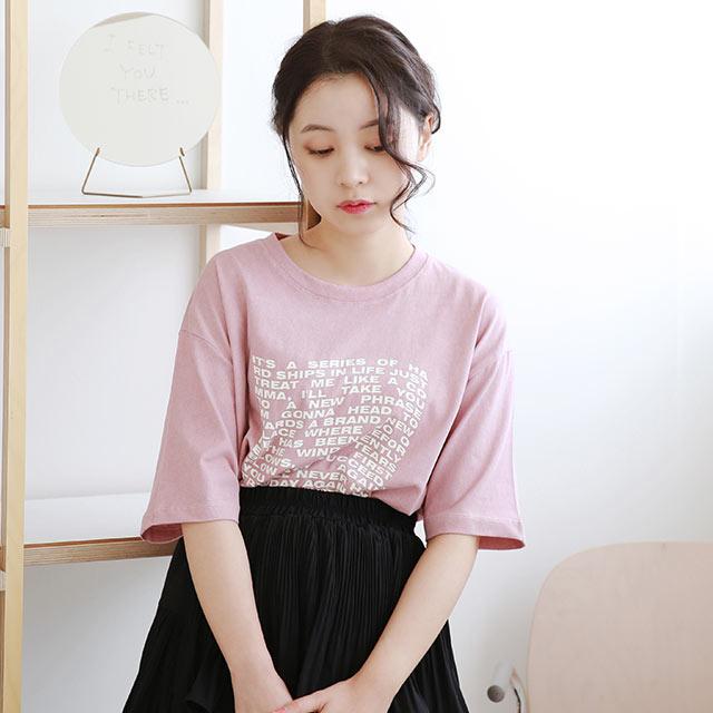 レタリングポイントTシャツ[5402C]