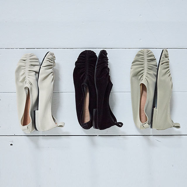 gather flat shoes[541I]
