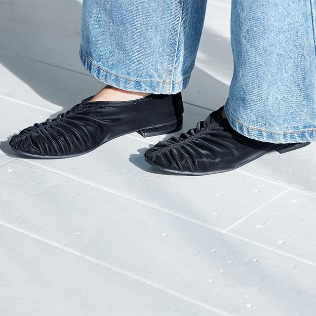 gather flat shoes[541I]