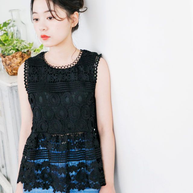 <Spring Sale>lace sleeveless tops[543C]