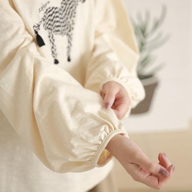 ゼブラ刺繍プルオーバー[5752C]