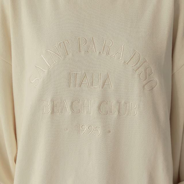 ワントーンロゴ刺繍プルオーバー[5837C]