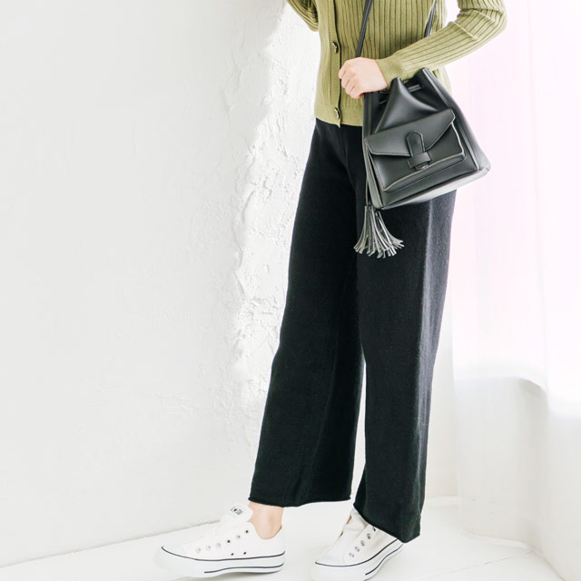 <bottom fair!!6/8(mon)am11:59まで>cashmere blend knit wide pants[589M]