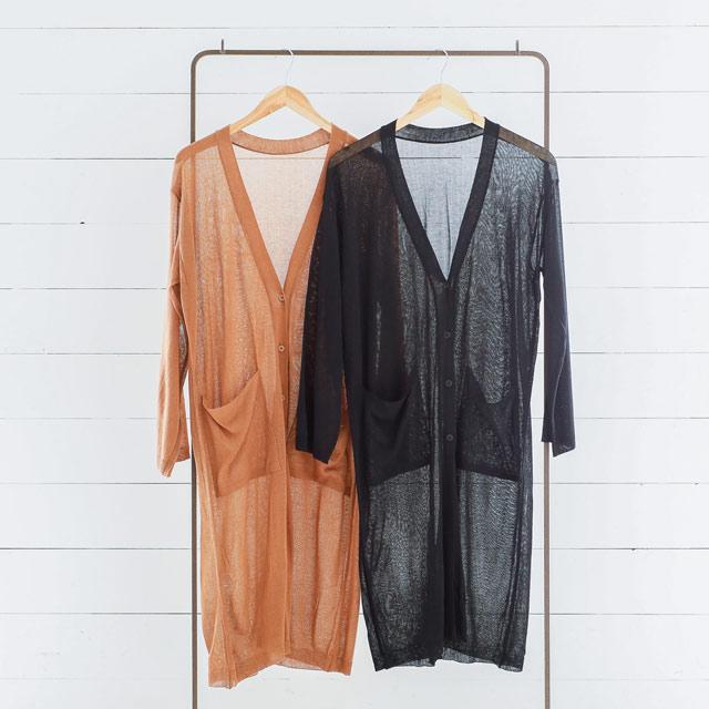<Summer Sale!!>long knit carde[600C]